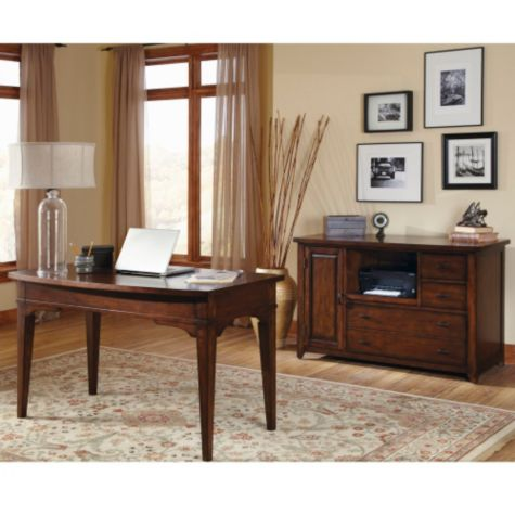 Shown with storage credenza
