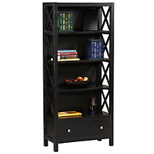 "Anna Four Shelf Bookcase with Drawer - 32""W x 72.25""H, 8805151"