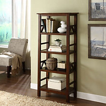 "Titian Four Shelf Bookcase - 54.5""H x 12""D, 8805156"