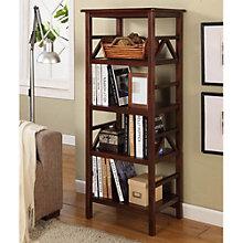 """Titian Four Shelf Bookcase - 54""""H x 16""""D, 8805159"""