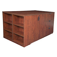 2 Cabinet Desk w/Bookcase End, 8821614