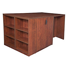 2 Desk Cabinet w/Bookcase, 8821616