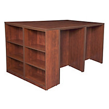 Desk Quad with Bookcase End, 8821649