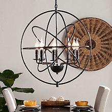 8 Bulb Globe Pendant Lamp, 8821412