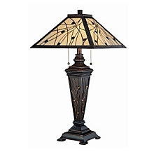 Remus Glass Shade Tiffany Style Table Lamp, LTS-C41117