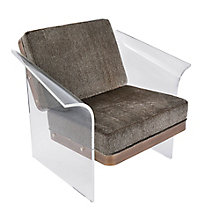 Float Acrylic Lounge Chair in Faux Fur, 8804912