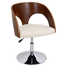 Ava Bentwood Chair in Fabric, 8804914