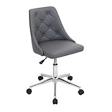 Marche Armless Computer Chair in Faux Leather, 8804920