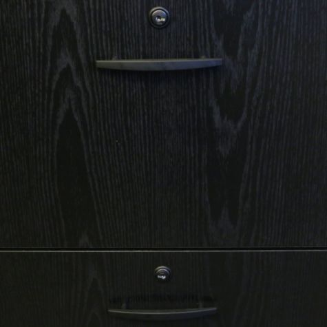 Lateral file drawers lock