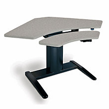 "VariTask E-Series Powered Adjustable Corner Table - 48"" x 30"", MAL-690W"