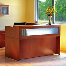 Aberdeen L Shaped Modern Receptionist Desk, 8804038