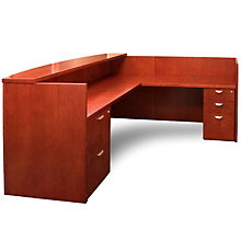 Mira L Shaped Receptionist Desk, MAL-MRSRBF