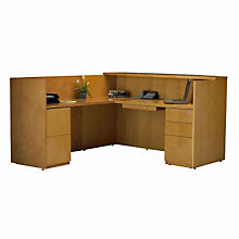Luminary L Shaped Receptionist Desk, MAL-RSRBF