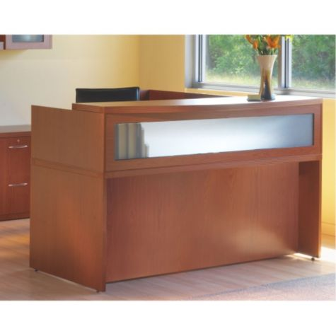 Close up of reception desk