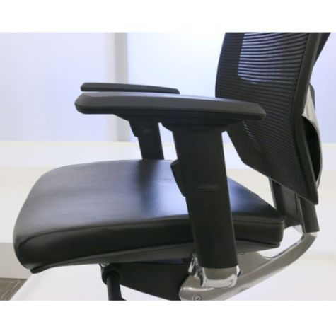 Armrests adjusted forward