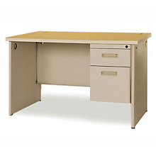"Single Pedestal Desk - 48"" x 30"", MAV-PDR4830SP"