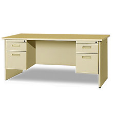 "Double Pedestal Desk - 66"" x 30"", MAV-PDR6630DP"