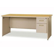 "Pronto Single Pedestal Desk - 72"" x 30"", MAV-PDR7230SP"