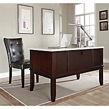 Monarch Marble Top Desk and Parsons Chair, 8806990