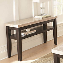 Monarch Marble Top Sofa Entertainment Table, 8806883