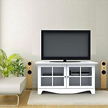 Pinnacle White TV Stand, MEG-100403