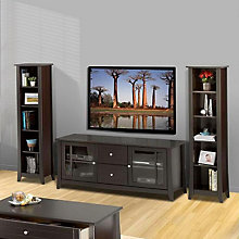 Elegance Entertainment Center - Large TV Stand and Bookcases, OFG-EF0095