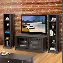 Elegance Entertainment Center - Small TV Stand with Bookcases, OFG-EF0096
