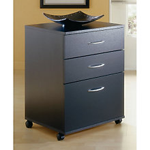Black Legal Size Three Drawer Mobile File, MEG-6092
