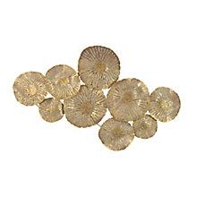 Large Circles Wall Décor Gold, 8809087