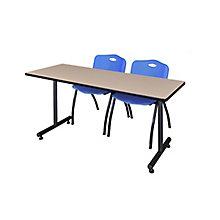 "66""x24"" Training Table Set, 8821921"