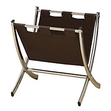 Faux Leather Free Standing Magazine Rack, 8801596