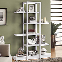 """Open Concept Display Bookcase- 71""""H, 8801762"""