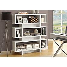 "Three Shelf Bookcase- 55""H, MOA-01239"