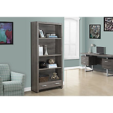 """Four Shelf Bookcase With Drawer- 71""""H, 8802280"""