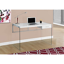 "Desk W/Tempered Glass Frame - 48""Wx24""D, 8829102"