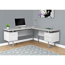 """Floating Pedestal L-Desk 71""""Wx71""""D, 8829104"""