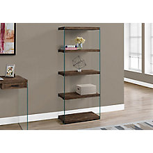 """Bookcase with Tempered Glass - 60""""H, 8802272"""