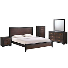 5 Piece King Walnut Bedroom Se, 8806807