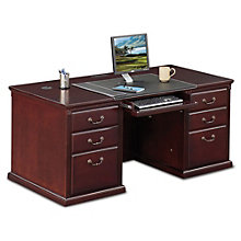 "Kathy Ireland Huntington Club Executive Double Pedestal Desk - 68""W, 8805051"