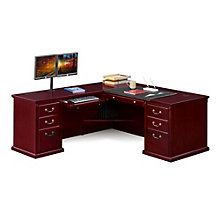 "Kathy Ireland Huntington Club L-Desk with Left Return - 68""W, 8805064"