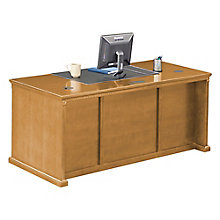 "Wheat Oak Double Pedestal Desk - 68.25""W, 8805042"