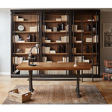 Toulouse Writing Desk and Bookcase Wall Set, 8825665