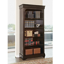 "Beaumont Wood Veneer Five Shelf Open Bookcase - 78""H, MRN-10278"