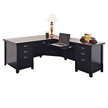 Tribeca Loft Black Right Return L-Desk, MRN-10282