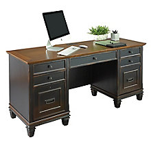 "Hartford Two-Tone Double Pedestal Credenza - 69.5""W, 8803151"