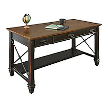 "Hartford Two-Tone Writing Desk - 60""W, 8803143"