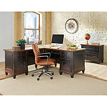 Hartford L-Desk with Right Return and Lateral File Set, 8804486
