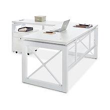 "Urban Reversible L-Shaped Desk with Pedestal - 72""W x 80""D, 8826880"