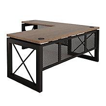 """Reversible Compact L-Desk - 60""""W x 80""""D, 8826881"""