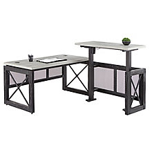 "Adjustable Height L-Desk with Right Return- 72""W, 8827443"